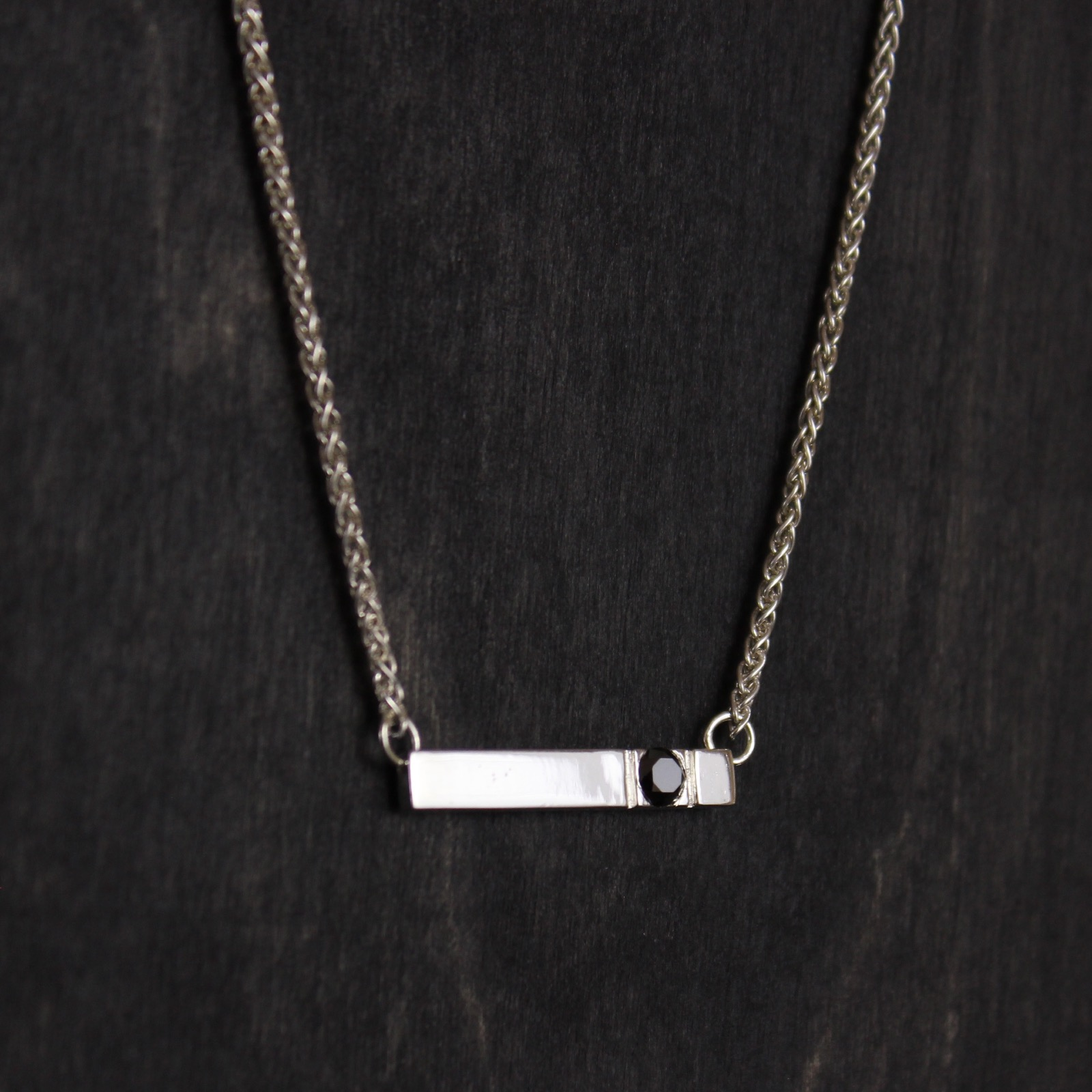 black pendant necklace shop img strout with diamond forge