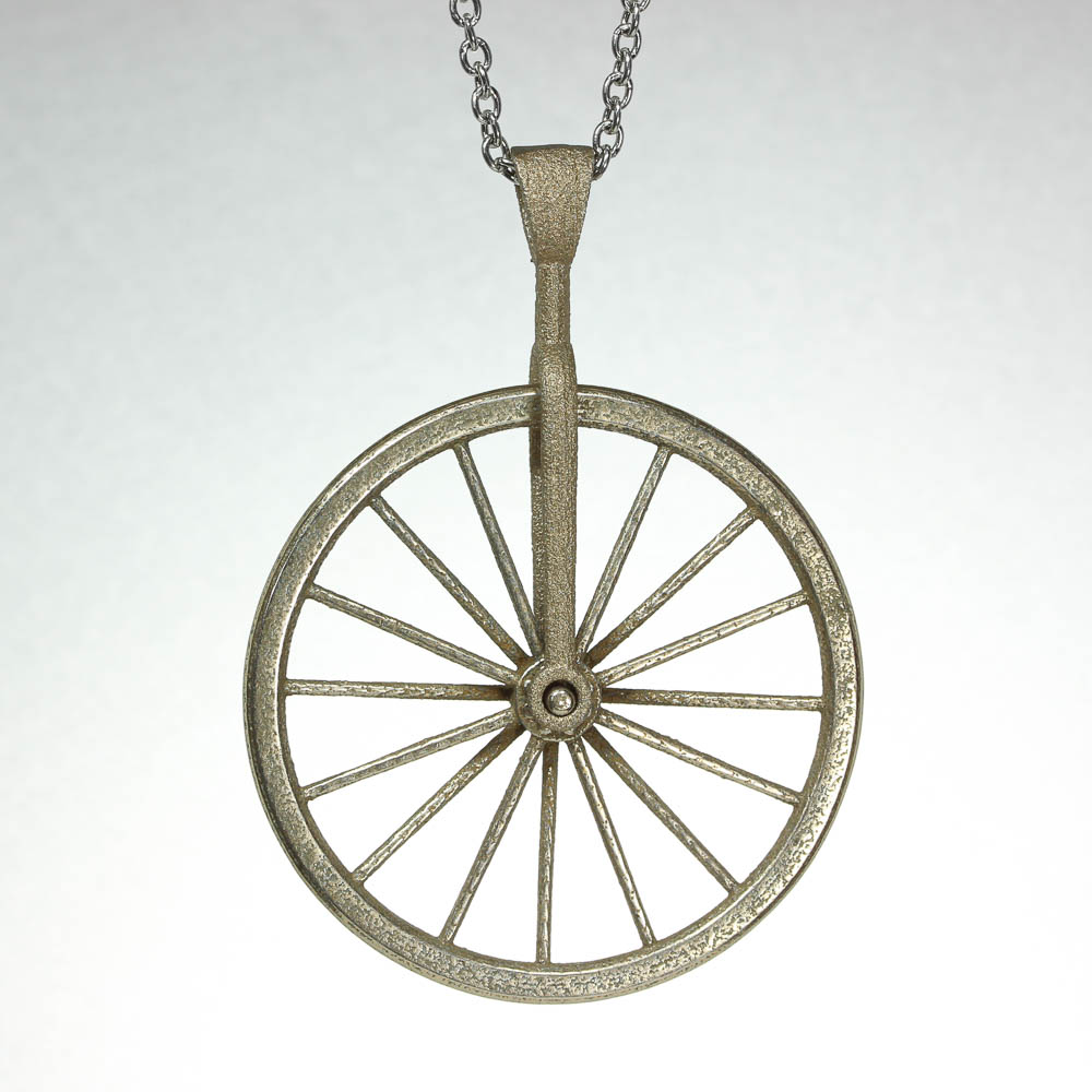 Bicycle wheel spinner necklace stainless steel balliet stainless steel bicycle spinner pendant aloadofball Gallery