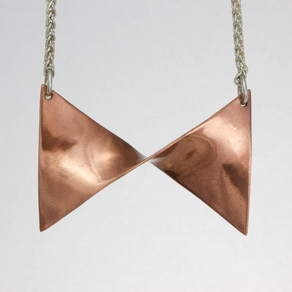 Lacquered Copper Bow Necklace