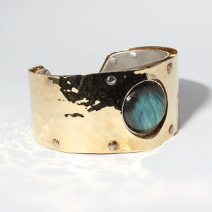 Labradorite Gold and Silver Cuff